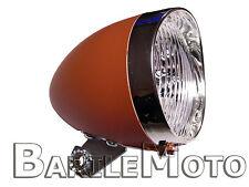 Fanale / Faro / Luce Anteriore Marrone 3 LED Bici Graziella - Olanda - R - Epoca