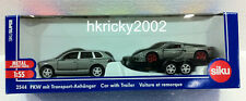 Siku Super 2544 Silver Porsche Cayenne Turbo Car with Trailer & GT Model