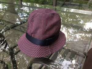 Auth GUCCI Bucket Hat Cotton XL Made in Italy .