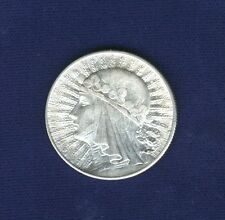 POLAND  1932  5 ZLOTYCH SILVER COIN, LONDON MINT, JUST ABOUT MINT STATE!