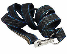 """Heavy Duty Nylon Dog Leash 1.25"""" Wide, 6ft Length with Leather Padded Handle XL"""