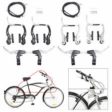 Alloy Brake Levers V Brakes Cables Caliper Set For BMX Mountain Bike Bicycle USA