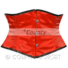 Faja Mini waspie Shaper Completo Acero deshuesado waistbust Rojo satinado corsé korsett