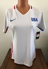 Nike Womens USA 2016 Stadium Olympic Soccer Jersey White Size Large L 739326-100