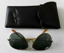 Vintage Aviator B & L Ray Ban USA W Germany 1/30 10k GO Sunglasses & Cover