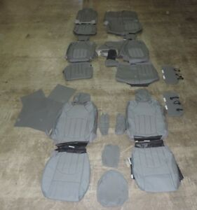 2015 CHEVY TRAVERSE AFTR MKT PEWTER or GRAY ALEA LEATHER 8 SEAT PACKAGE SET #63