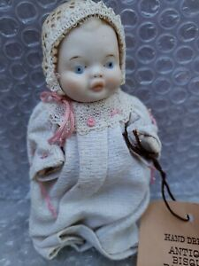 Vintage Jointed Bisque Baby Doll Japan All Original