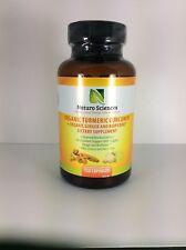 Naturo Sciences organic turmeric curcumin 120 caps - EXP 9/18 - sku:by0203