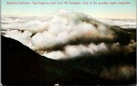 Vtg 1910's Fog Surges seen above Mt Mount Tamalpais in California CA Postcard