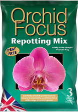 Orchid Compost Soil Repotting Graded Bark Coconut Fibre Chips Mix Peat Free 3L