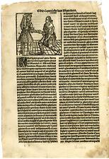 Rare Antique Print-DEATH-DUKE GUYENNE-CHARLES BOLD-Doppere-Vorsterman-1531
