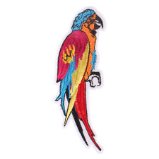 1pcs Cute Parrot Embroidered Iron ON Patch cloth Applique Badge 4.4x12.9cm