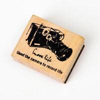 Vintage Scenery Wooden Mounted Rubber Stamp Postcard Making DIY Scrapbook Craft