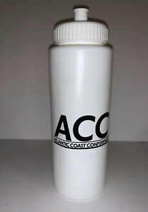 ACC ATLANTIC COAST CONFERENCE NCAA Official Water Bottle Game White HDPE