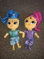 """VGC Nickelodeon Shimmer & Shine Genies Plush Toy Dolls 16"""" Excellent Condition"""