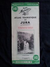 Carte Michelin 141 Atlas touristique du Jura 1952
