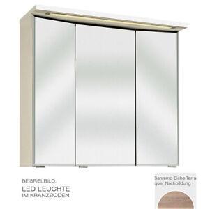 PELIPAL TRENTINO 770/800 Spiegelschrank 3D Sanremo Eiche LED-Leuchte 75x72x20cm