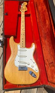 Authentic 1975 Fender Ash Stratocaster Natural Finish