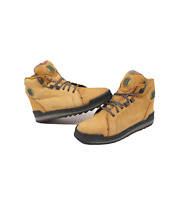 Vintage 90s Reebok Boks Womens 9 Mens 7.5 Suede Hiking Ankle Boots Wheat Brown