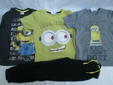 ❤ LOT of 4 DESPICABLE ME boys shirts pants 5 6 outfit FREESHIP
