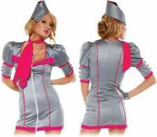 Air Hostess Fancy Dress, Air Stewardess Uniform, Flight Attendant - S/M UK 6-8