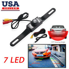 7 LED Car Rear View Backup Camera Parking Reverse Back Up Camera Waterproof CMOS