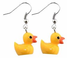 Duck Earrings, Quirky and Fun Yellow Duck Earrings, Funky Ladies Jewellery