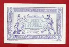 (Ref: SP.2F) 2 FRANCS TRÉSORERIE AUX ARMÉES (SPECIMEN) 1917 RARE NEUF