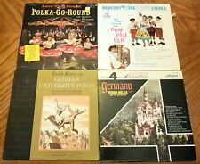 New listing Four Piece  Lot Vinyl Record Polka Go Around Germany University Songs Erich Kunz
