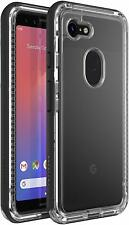LifeProof NEXT Series Drop Proof Case for Google Pixel 3 - Black Crystal Clear