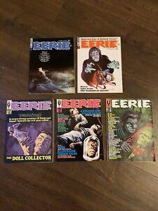 5x Eerie (1965 series) Warren comics #7 #10 #15 #16 &# 19 FN/VF Lot