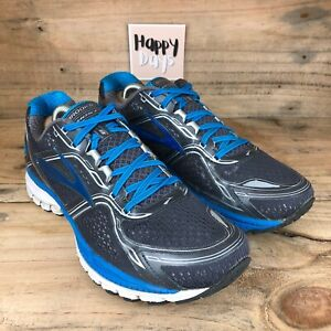 Brooks Ghost 18 Men's Grey/Blue Mesh Running Gym Trainers Shoes Size UK9 EU44
