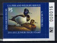 US Junior Duck Stamp JDS19 MNH, Plate Number 2011 - 2012