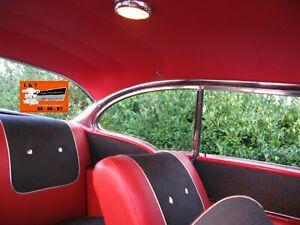1956 1957 Chevy 2 Door Hardtop Headliner Red Original Vinyl Color New Belair 210