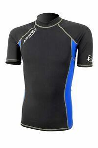 Aropec Mens Compression Short Sleeve Top - Triathlon / Running Sport XS - Blue