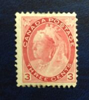 "Stamps Canada Sc78  3c carmine Mint QV ""Numeral"" issue of 1897.See description."