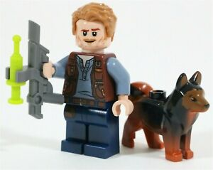 LEGO JURASSIC WORLD 75935 OWEN GRADY MINIFIGURE & RED THE DOG SECRET EXHIBIT