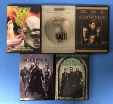 Assorted Movies DVDs Lot (B) of 5 Matrix, Saw, Natural Born Killers, etc Rated R
