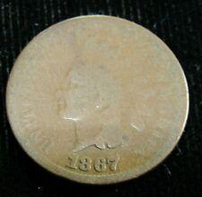 1867 Indian Cent Ag-G