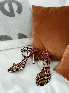 CHRISTIAN DIOR Leopard Sandals (SIZE 39.5)