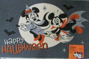 "Disney Halloween Accent Rug Minnie & Mickey 20"" x 32"" Happy Halloween NWT"