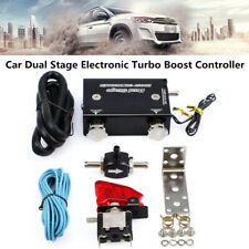 Car Dual Stage Electronic Turbo Boost Controller PSI Turbocharger Switch Kit Set