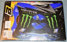 kit stickers déco + housse REPLICA 2013 MONSTER ENERGY YAMAHA YZ 125 250 02/2014