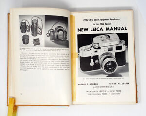 Leica Manual 1951 ed. With 1954 New Insert Dechert Collection