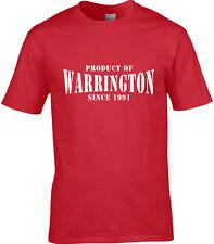 Producto De La Warrington camiseta hombre Sitio Regalo Cumpleaños Año Choice