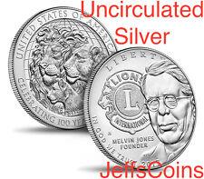 2017 P Lions Clubs International Centennial UNCIRCULATED Silver Dollar 90% 17CJ