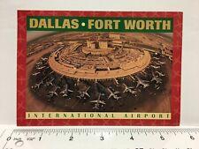 Dallas Fort Worth International Airport Airplanes Texas TX Vintage Postcard