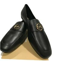 NEW MICHAEL KORS HEATHER LOAFER LEATHER WOMEN SHOES BLK Sz  9.5-10 M
