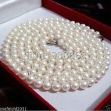 36 pouces 8-9mm d'eau douce parfaite AAA blanc crème Cultured collier de perles