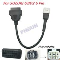 For Yamaha SUZUKI Motorcycle Scooter OBD2 6 Pin diagnostic Plug Adapter Cable
